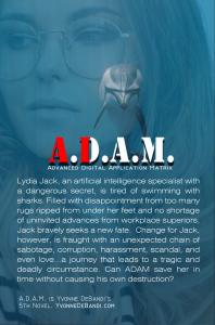 Yvonne DeBandi - ADAM, Novel